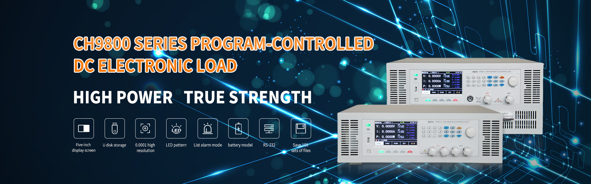 CH9800 series program-controlled  DC electronic load